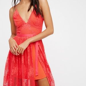 Free People Matchpoint Midi Lace Dress 4, 6, & 10